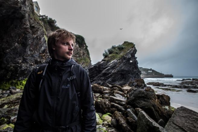 sören at the cliff